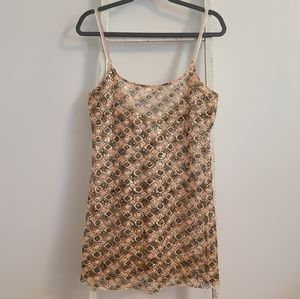 Free People♡ Sequin crochet festival slip dress